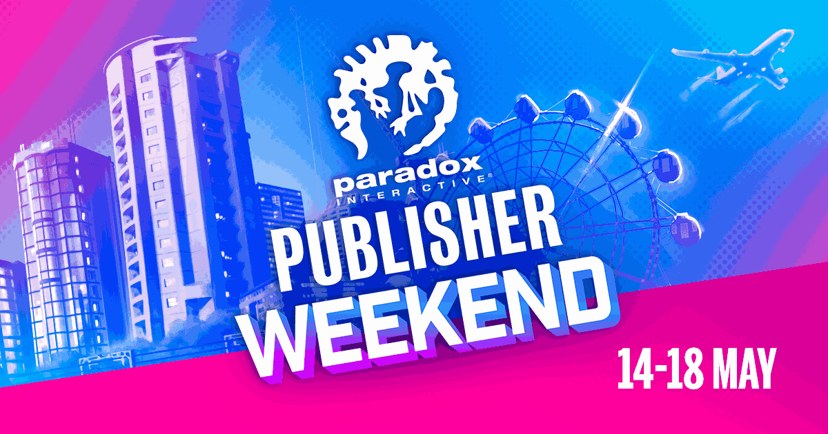 Maradox publisher weekend, 14 to 18 May.